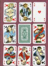 Collectible German playing cards courts. Optipect,